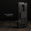"""เคส Zenfone GO 5.5"""" (ZB551KL DTAC Edition เท่านั้น) เคสบั๊มเปอร์ Defender กันกระแทก มีขาตั้งในตัว สีดำ"""
