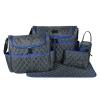 Ecosusi กระเป๋าคุณแม่ พร้อมอุปกรณ์รวม 5 ชิ้น มีกระเป๋าสะพายใหญ่สองใบ แผ่นรองเปลี่ยนผ้าอ้อม กระเป๋าใส่ขวดนม กระเป๋าใส่ของ (ผิวเย็บบุฟองน้ำนุ่ม)