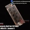 Fender Barnacle Bolt Set 10 Piece Black MSX , Zoomer X