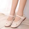 รองเท้าคัชชูเด็กหญิงหนัง PU ฉลุดอกไม้สีครีมสวยหวาน Size 27-33
