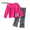 (GTL03) เสื้อแขนยาว+กางเกงขายาว (Size 2T, 3T, 4T) ผ้า cotton ยืดหยุ่น เนื้อผ้าดีมากๆ ใส่สบาย