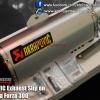 AKRAPOVIC Exhaust Slip on For Honda Forza 300