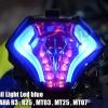 ไฟท้ายมีไฟเลี้ยวในตัว Shark Tail Light Led มี3สี For YAMAHA R3 , R25 , MT03 , MT25 , MT07