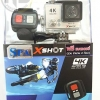 กล้อง X-SHOT H2 4K Ultra HD Action sport camera wifi Silver + Remote Splashproof (Remote 2.4G:20m/66ft