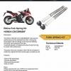Ohlins Front Fork set for HONDA CB650F , CBR650F