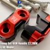 GTR Bar Clamp Set OEM Handle 22.2MM Red
