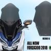 ชิวหน้า HERO แบบ6 สีชาอ่อน For Honda Forza 300/2018