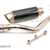 ท่อฟลู Yamaha AEROX155 สแตนเลส Carbon