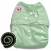 กางเกงผ้าอ้อมกันน้ำ+แผ่นซับชาโคลหนา5ชั้น Size 3-16 kg.-Light Green