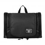 กระเป๋าใส่อุปกรณ์อาบน้ำ คุณภาพสูง ใส่ขวดได้ มีกระเป๋าใส่ของเพิ่มซ้าย-ขวา แขวนได้ สำหรับเดินทาง ท่องเที่ยว (สีดำ)