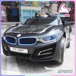 รถแบตเตอรี่เด็ก BMW I8 สีดำ 2 มอเตอร์เปิดประตูได้ มีรีโมท หรือบังคับเองได้
