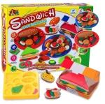 แป้งโดว์ ของเล่นชุดแป้งโดว์ 5 กระปุก พร้อมอุปกรณ์ทำ Sandwich