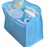 ช่องจัดระเบียบกระเป๋า แบ่งของใช้เด็ก Size M สีฟ้า/ชมพู