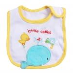 ผ้ากันเปื้อน Carter's ลายปลาวาฬ กุ้นสีเหลือง