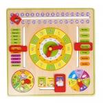 ของเล่นไม้เรียนรู้เวลา ตั้งแต่นาทีจนถึงฤดูกาลใน 1 ปี แบบปฏิทิน Wooden Daily Calendar Clock Board Toy