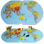 ของเล่นจับคู่ แผนที่โลก+ธงประจำชาติ ขนาด 47*29*0.8 cm