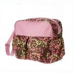 กระเป๋าสัมภาระลูก Baby สะพายใบเล็ก ลายดอกไม้เกาหลี สีชมพู