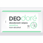 DEOdore' deodorant wipes sensitive กระดาษเปียกใช้เช็ดใต้วงแขนเพื่อระงับกลิ่นกายได้ตลอดวัน (สูตร Sensitive)