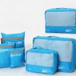 ชุดจัดกระเป๋าเดินทาง 6 ใบ ผลิตจากโพลีเอสเตอร์กันน้ำคุณภาพดี สำหรับจัดระเบียบเสื้อผ้า กางเกง ชุดชั้นใน กางเกงใน อุปกรณ์ไอที มี 6 สี