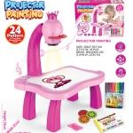 ชุดโต๊ะกิจกรรมการเรียนรู้การวาดภาพแบบโปรเจ็คเตอร์ Projector Painting สีชมพู
