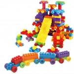[มีตำหนิ] ของเล่นบล็อคตัวต่อเลโก้ชิ้นใหญ่สำหรับเด็กเล็กวัย 2-5 ปี แบบถังหิ้ว 180 ชิ้น