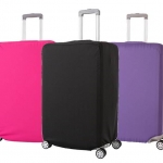 (สีพื้นเรียบ ขนาด S) ผ้าคลุมกระเป๋าเดินทาง ขนาด 18 - 20 นิ้ว มี 3 สีให้เลือก (ดำ ชมพู ม่วง)
