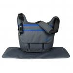 Ecosusi กระเป๋าคุณแม่ ทรงกระเป๋าแมสเซนเจอร์ เดินทางสะดวก แขวนรถเข็นได้ คุณภาพสูง (สีเทาเข้ม)