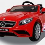 รถแบตเตอรี่เด็ก BENZ ลิขสิทธิ์แท้ S class C63 AMG สีแดง