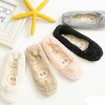 รองเท้าผ้าลูกไม้เด็กอ่อนสไตล์ยุโรป ผ้านิ่มใส่สบาย วัย 3-12 เดือน