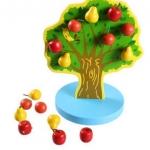 ของเล่นไม้ ต้นไม้ออกผล แม่เหล็กดูดติด สอนนับเลข-บวกเลข