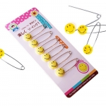 เข็มกลัดผ้าอ้อมญี่ปุ่น Smiley Safety Pin แพค 6 ชิ้น