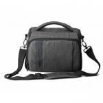 กระเป๋าใส่กล้องถ่ายรูป SLR/DSLR ขนาดกะทัดรัด พร้อมผ้าคลุมกันฝนหรือสิ่งสกปรก (สี Grey) (BAGSMART Compact Camera Shoulder Bag for SLR/DSLR with Waterproof Rain Cover)