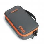 กระเป๋าใส่อุปกรณ์อิเล็กทรอนิกส์ สำหรับใส่อุปกรณ์ไอทีทุกชนิด มีสองชั้น ช่องเยอะพิเศษ มีหูหิ้วพกพาสะดวก (เทา-ส้ม)