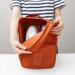 กระเป๋าใส่รองเท้าสำหรับเดินทาง กันน้ำได้ ถือพกพาสะดวก มี 6 สีให้เลือก