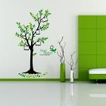 สติกเกอร์แต่งห้อง DIY ลายกรอบรูปต้นไม้ Sweet Memory ลอกออกแล้วติดซ้ำได้