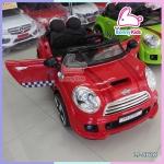 รถแบตเตอรี่เด็ก mini cooper สีแดง 2 มอเตอร์