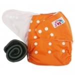 กางเกงผ้าอ้อมกันน้ำ+แผ่นซับชาโคลหนา5ชั้น Size 3-16 kg.-Orange