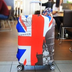 (พิมพ์ลาย ขนาด M) ผ้าคลุมกระเป๋าเดินทาง ขนาด 22 - 24 นิ้ว มี 10 ลาย 10 แบบให้เลือก