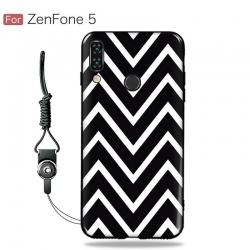 เคส Zenfone 5 (ZE620KL) เคสนิ่ม TPU พิมพ์ลาย (ขอบดำ + พร้อมสายคล้องมือถือ) แบบที่ 2