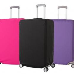 (สีพื้นเรียบ ขนาด XL) ผ้าคลุมกระเป๋าเดินทาง ขนาด 29 - 32 นิ้ว มี 3 สีให้เลือก (ดำ ชมพู ม่วง)