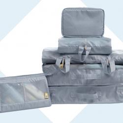 ชุดจัดกระเป๋าเดินทาง 7 ใบ เย็บอย่างดี จัดกระเป๋าเดินทาง ท่องเที่ยว ใส่เสื้อผ้า ชุดชั้นใน อุปกรณ์ห้องน้ำ กางเกงใน รองเท้า เครื่องสำอาง อุปกรณ์ไอที