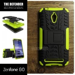 เคส Zenfone GO (ZC500TG) กรอบบั๊มเปอร์ กันกระแทก Defender สีเขียวอ่อน (เป็นขาตั้งได้)