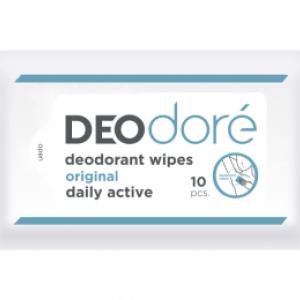 DEOdore' Deodorant wipes (Original) กระดาษเปียกใช้เช็ดใต้วงแขนเพื่อระงับกลิ่นกายได้ตลอดวัน (สูตรดั้งเดิม)