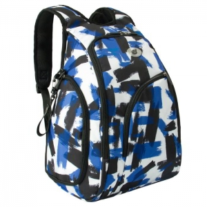 Ecosusi กระเป๋าเป้คุณแม่ ใส่สัมภาระสำหรับคุณแม่ มาพร้อมแผ่นรองเปลี่ยนผ้าอ้อม, สายคล้องรถเข็น, ช่องเก็บความร้อน-เย็น ทั้งสองด้าน (Navy Patten)