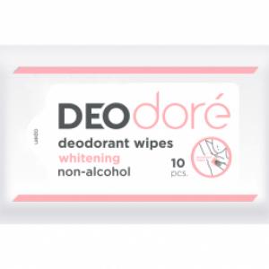 DEOdore' deodorant wipes (Whitening) กระดาษเปียกใช้เช็ดใต้วงแขนเพื่อระงับกลิ่นกายได้ตลอดวัน (สูตร Whitening)