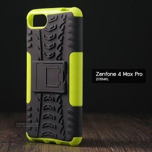 เคส Zenfone 4 Max Pro (ZC554KL) กรอบบั๊มเปอร์ กันกระแทก Defender สีเขียว (เป็นขาตั้งได้)