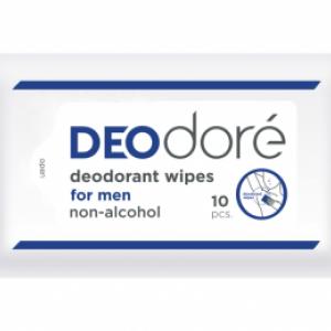 DEOdore' deodorant wipes for men กระดาษเปียกใช้เช็ดใต้วงแขนเพื่อระงับกลิ่นกายได้ตลอดวัน (สำหรับผู้ชาย)