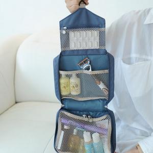 กระเป๋าใส่อุปกรณ์ห้องน้ำ ขนาดกะทัดรัด ใส่อุปกรณ์อาบน้ำ แขวนได้ สำหรับเดินทาง ท่องเที่ยว พกพาสะดวกมี 4 สี 4 ลายให้เลือก