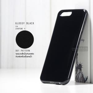 เคส Zenfone 4 เคสนิ่มผิวเงา GLOSSY BLACK พร้อมจุดขนาดเล็กป้องกันเคสติดกับตัวเครื่อง สีดำทึบ