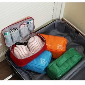 กระเป๋าใส่ชุดชั้นใน กางเกงชั้นใน มีช่องแบ่งเก็บที่ใส่แล้ว ผลิตจากไนล่อนเนื้อดีกันน้ำ มีให้เลือก 6 สี